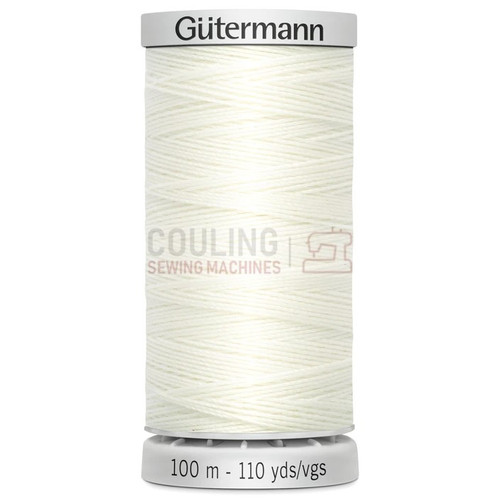 Gutermann Extra Strong Upholstery Thread 100m - 111 Ivory off White
