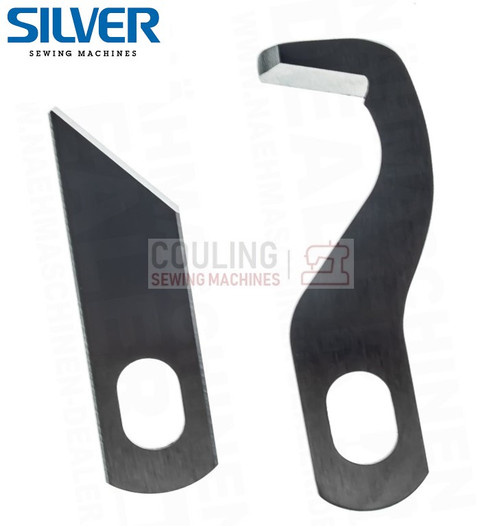 Overlocker Blade Knife Upper & Lower Set Compatible with Silver 720D only