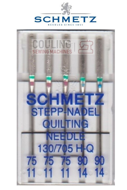 Schmetz Sewing Machine Needles Quilting H-Q Patchwork MIXED Size 75/11 & 90/14