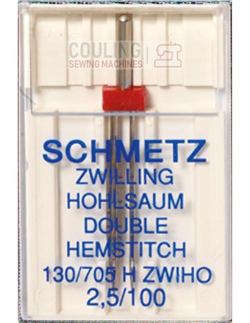 Schmetz Sewing Machine Double Hemstitch Wing Needle Size 2,5/100