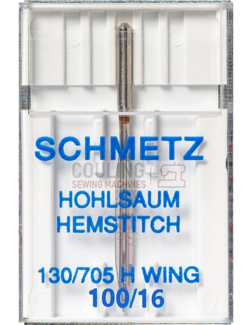 Schmetz Sewing Machine Hemstitch Wing Needle Size 100/16