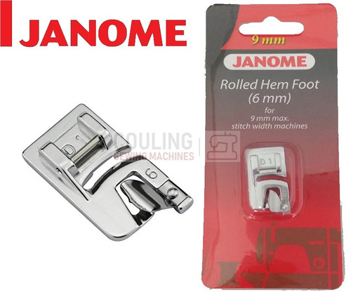JANOME ROLLED HEM HEMMER FOOT 6mm D1 - 202080006 9mm CATEGORY D