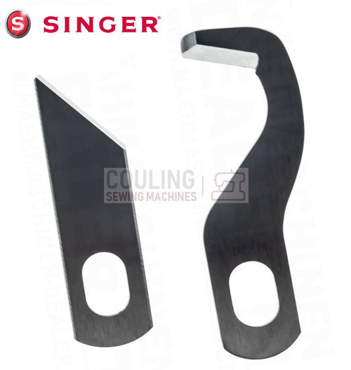 Overlocker Blade Knife Upper & Lower Set Compatible with Singer S14-78