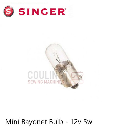 Singer Overlocker Mini Bayonet 12v 5w Light Bulb 14U34, 14U234, 14U244B, 14U Mini Bulb