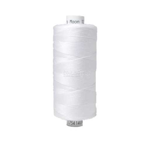MOON Coats Polyester Sewing & Overlocker Thread 1000m - WHITE