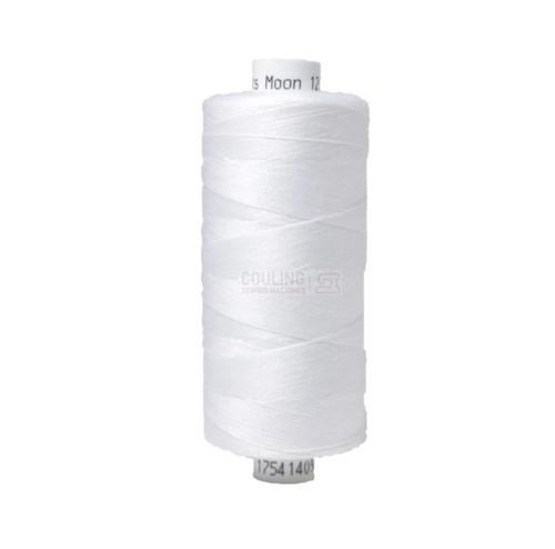 MOON Coats Polyester Sewing & Overlocker Thread 1000m - WHITE
