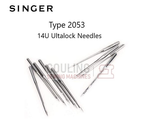 2053 Needles For Older Singer ULTRALOCK 14U Overlock 90/14 x10 round headed needles