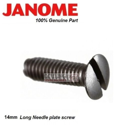 Janome Needle Plate Screw For Most Top Load - LONG 820039006