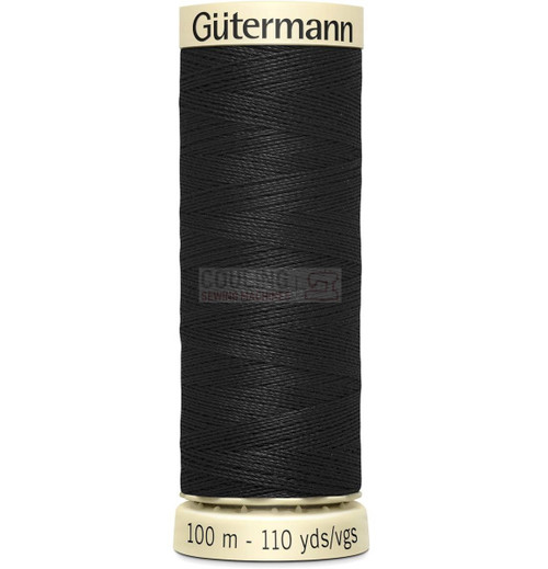 Gutermann Sew All Standard Thread 100m - BLACK 000