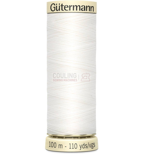 Gutermann Sew All Standard Thread 100m - WHITE 800