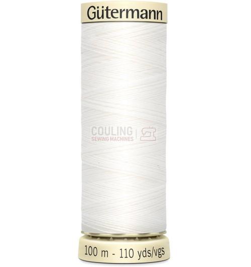 Gutermann Sew All Standard Thread 100m - WHITE 800