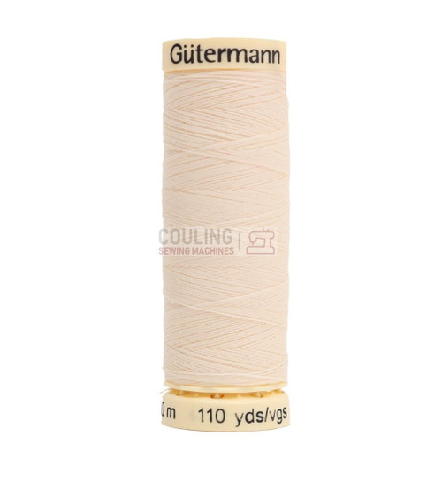 Gutermann Sew All Standard Thread 100m - CREAM 414