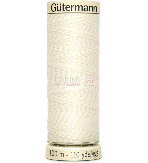 Gutermann Sew All Standard Thread 100m - IVORY 1