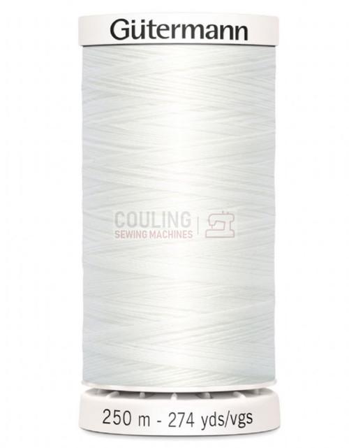 Gutermann Sew All Standard Thread 250m - WHITE 800