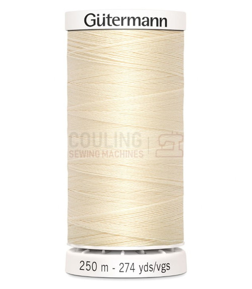 Gutermann Sew All Standard Thread 250m - CREAM 414