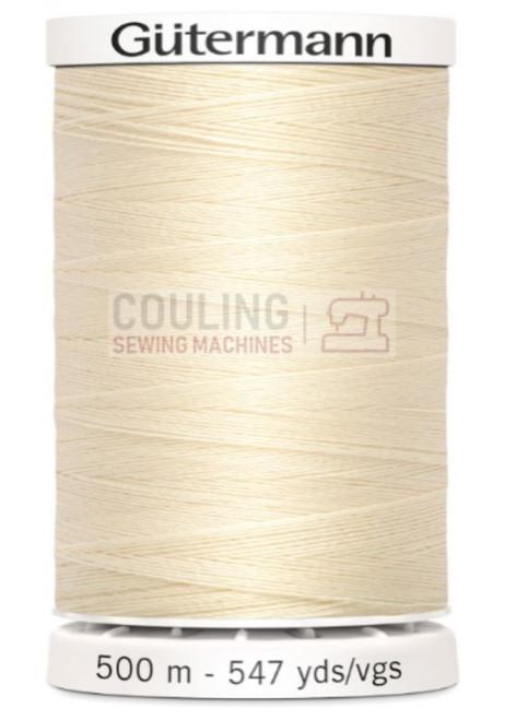 Gutermann Sew All Standard Thread 500m - CREAM 414