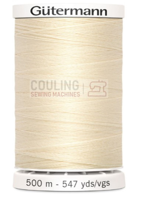 Gutermann Sew All Standard Thread 500m - CREAM 414