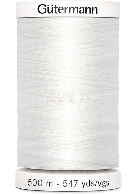 Gutermann Sew All Standard Thread 500m - WHITE 800