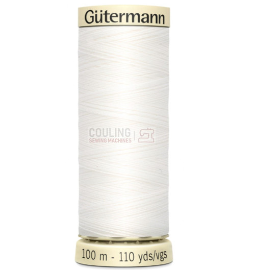 Gutermann Sew All Standard Thread 100m -  off White NATURAL 111