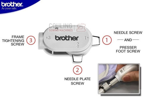 Brother Sewing Machines - Multi Function Compact ScrewDriver - Thick Slot XG1298001