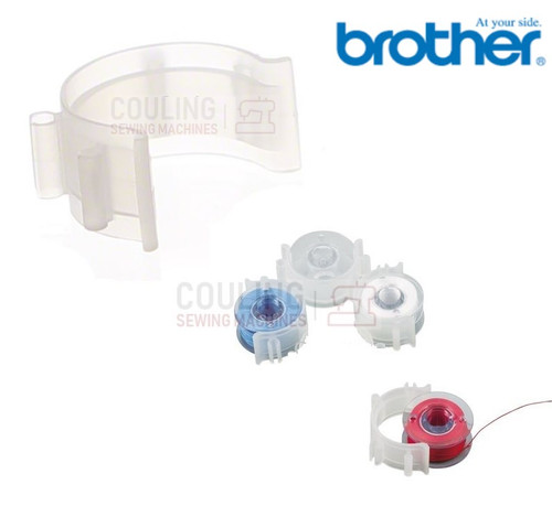 5 BROTHER Sewing Machine Bobbin CLIPS - Stops unwinding of thread XE3060001