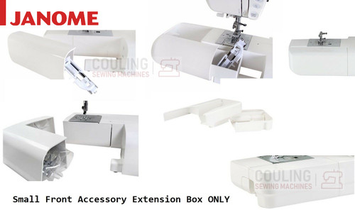 Janome Accessory Extension Box (Small white front box) Janome Machines Only