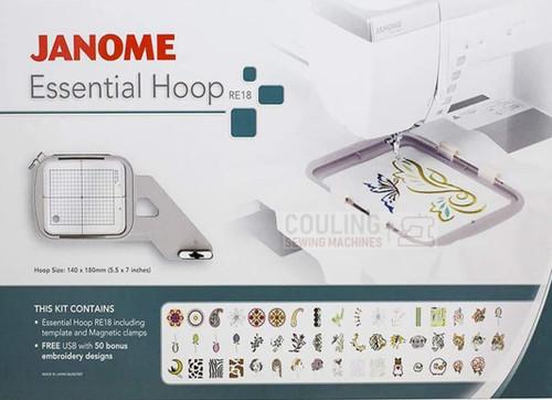 Janome Essential Hoop Kit RE18 MC12000 MC14000 MC15000 Only 862407007