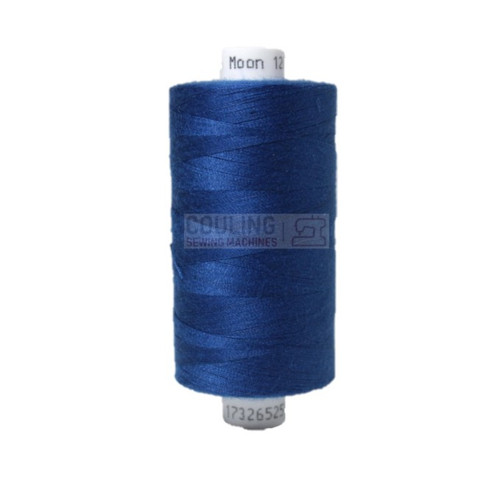 MOON Coats Polyester Sewing & Overlocker Thread 1000m - ROYAL BLUE 001