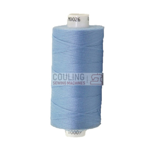 MOON Coats Polyester Sewing & Overlocker Thread 1000m - SKY BLUE 026