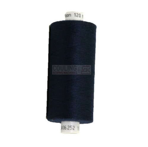 MOON Coats Polyester Sewing & Overlocker Thread 1000m - NAVY 089 M089