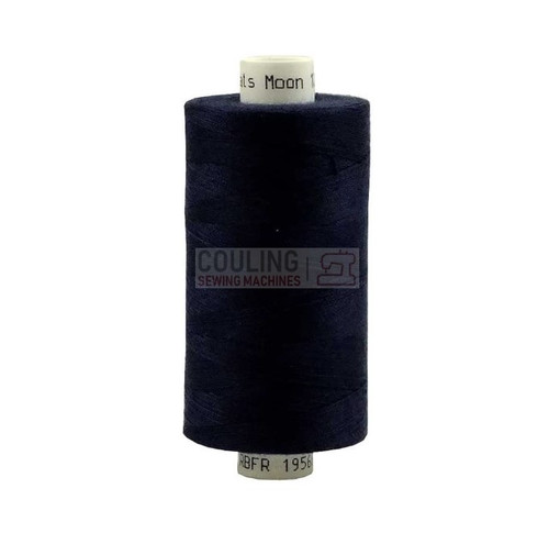 MOON Coats Polyester Sewing & Overlocker Thread 1000m - NAVY 004 M004