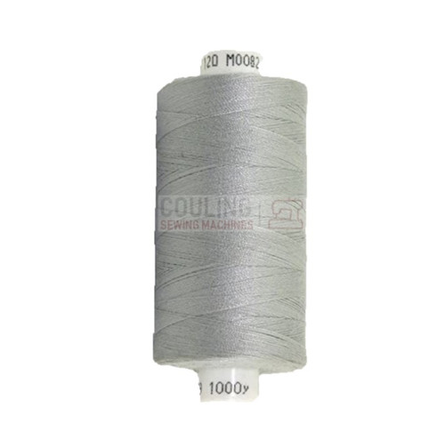 MOON Coats Polyester Sewing & Overlocker Thread 1000m - LIGHT GREY 082