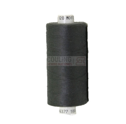MOON Coats Polyester Sewing & Overlocker Thread 1000m - DARK GREY 113