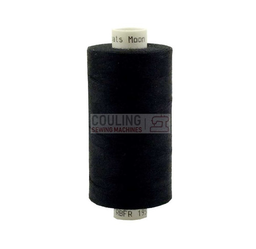 MOON Coats Polyester Sewing & Overlocker Thread 1000m - BLACK
