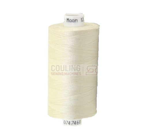 MOON Coats Polyester Sewing & Overlocker Thread 1000m - CREAM 005 M005