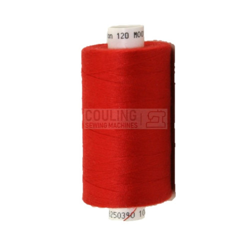 MOON Coats Polyester Sewing & Overlocker Thread 1000m - RED 012 M012