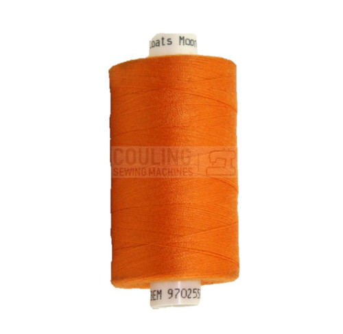MOON Coats Polyester Sewing & Overlocker Thread 1000m - ORANGE 097