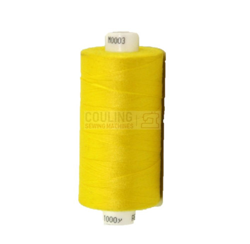 MOON Coats Polyester Sewing & Overlocker Thread 1000m - BRIGHT YELLOW 003 M0003