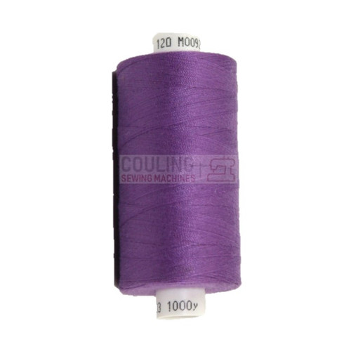MOON Coats Polyester Sewing & Overlocker Thread 1000m - PURPLE 092