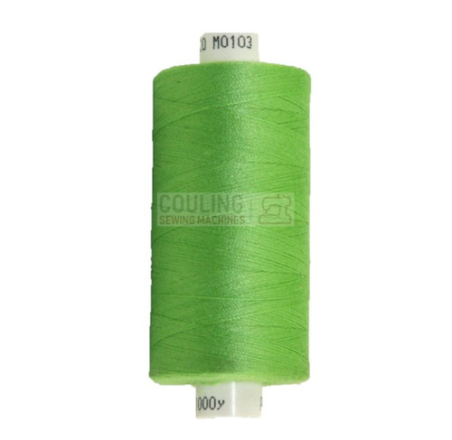 MOON Coats Polyester Sewing & Overlocker Thread 1000m - BRIGHT GREEN 103