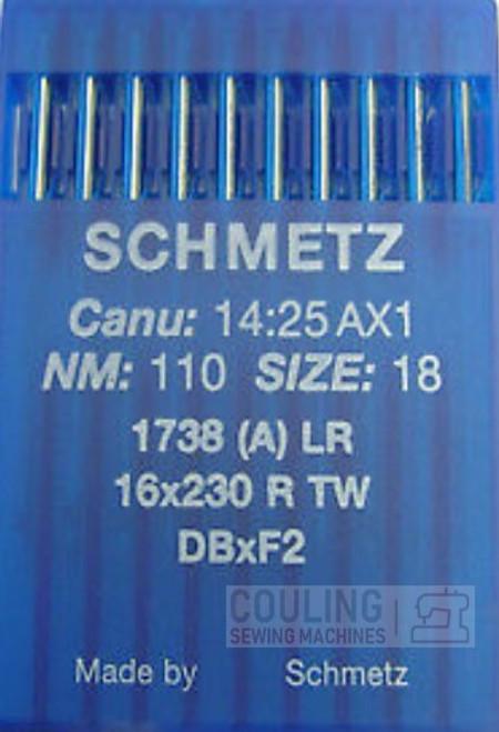 Schmetz Industrial Needles Round Top 16x230 DBx1 LEATHER POINT 10 x Size 110/18