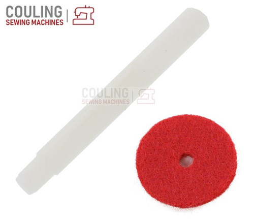 Plastic Spool Pin Stepped + Red Felt fits old Singer Machines 285, 292, 360, 362, 367 +