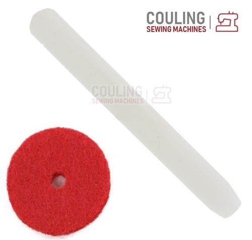 Plastic Spool Pin Taper + Red Felt fits old Singer Machines 327, 337, 401, 477 +