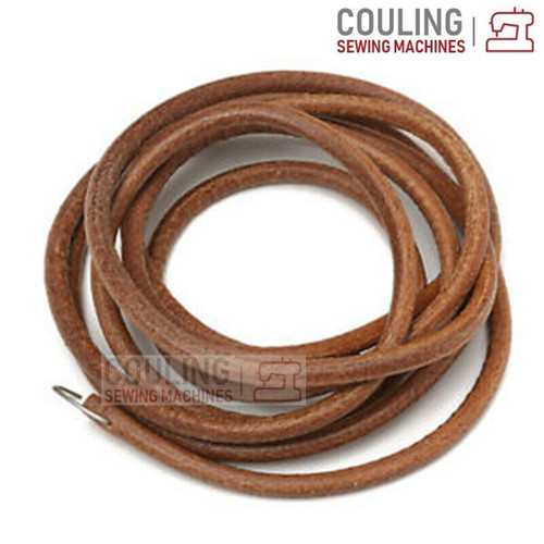 """Sewing Machine Treadle Leather Belt with Hook - 5mm (3/16"""") x 183cm (72"""")"""