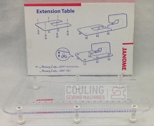"""Janome Machine Extension Large Table Plexi 24"""" x 16"""" 489708002"""