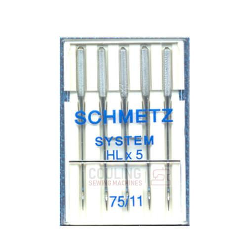 Schmetz Pro High Speed Sewing Machine Needles HLx5 Size 75/11