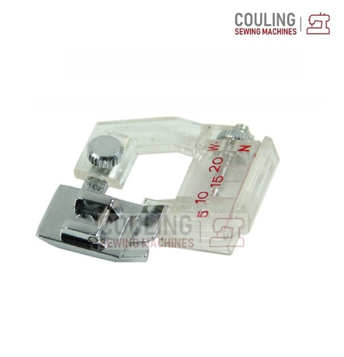 Sewing Machine Foot - Adjustable Tape Bias Binder Foot (Clip Snap on)