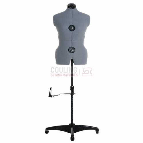 Milward Adjustable Dress Form - Size Medium Approx 14 - 20 - Grey