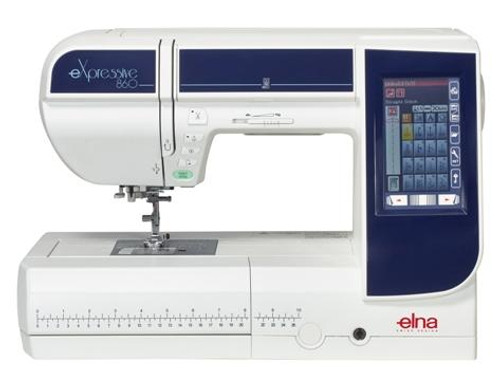 Elna eXpressive 860 Sewing, Quilting & Embroidery Machine - Free Digitizer Jr Software worth £249.00 - 860EX