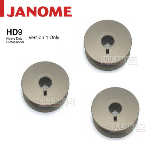 Janome Genuine Bobbins HD9 Metal JUMBO Version 1 Part No. 770591001